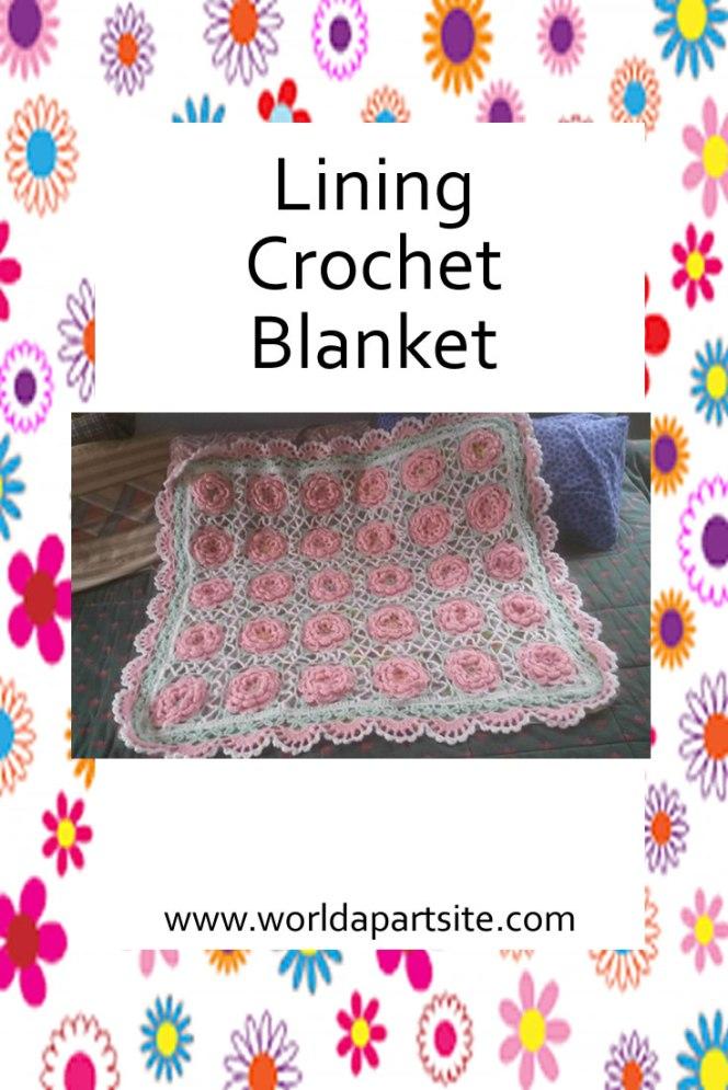 crochet blanket lining